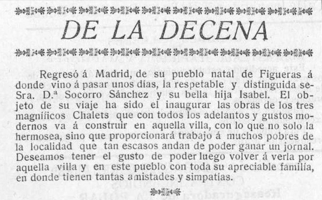 30-4-1912 Inaguracion obras de los chalets