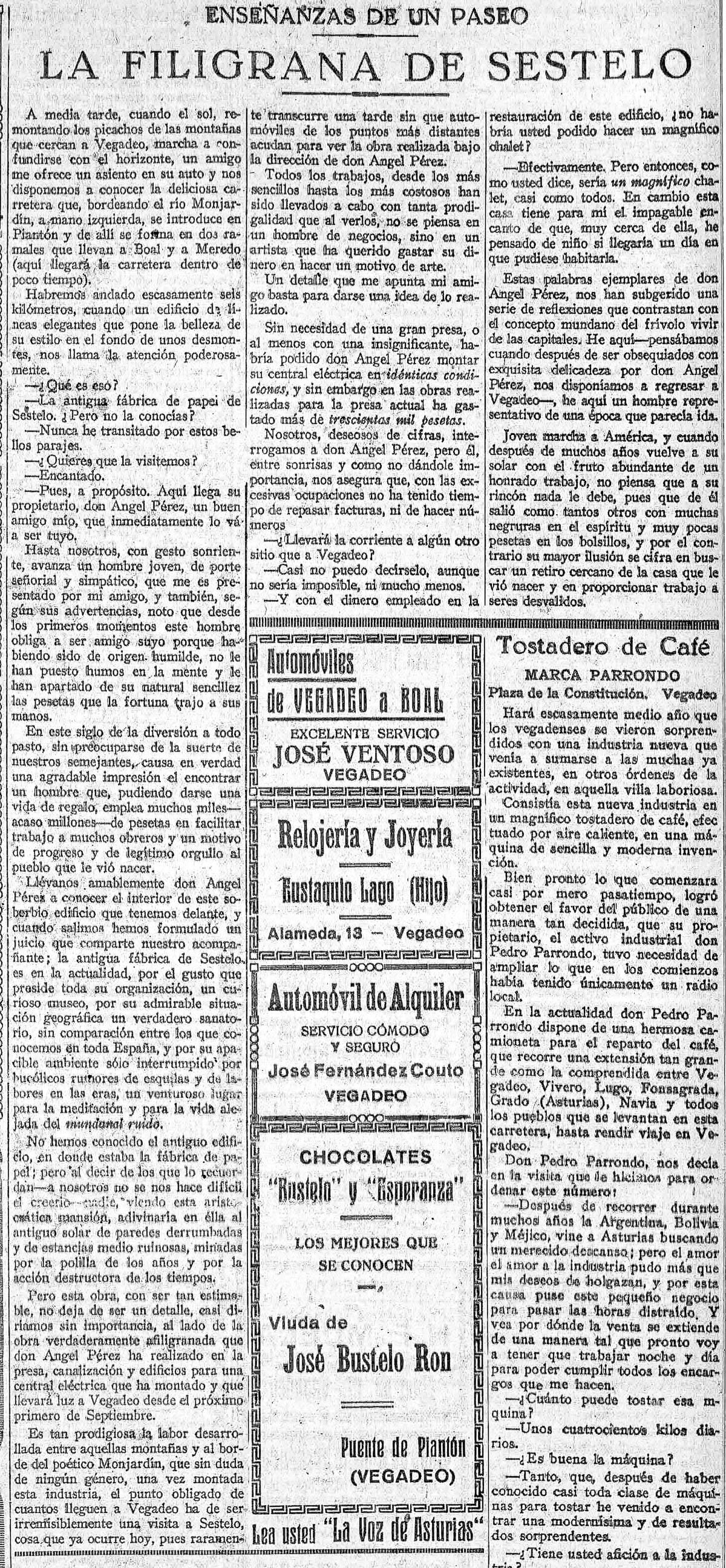 19270814 La Voz de Asturias Pag 5 Sestelo