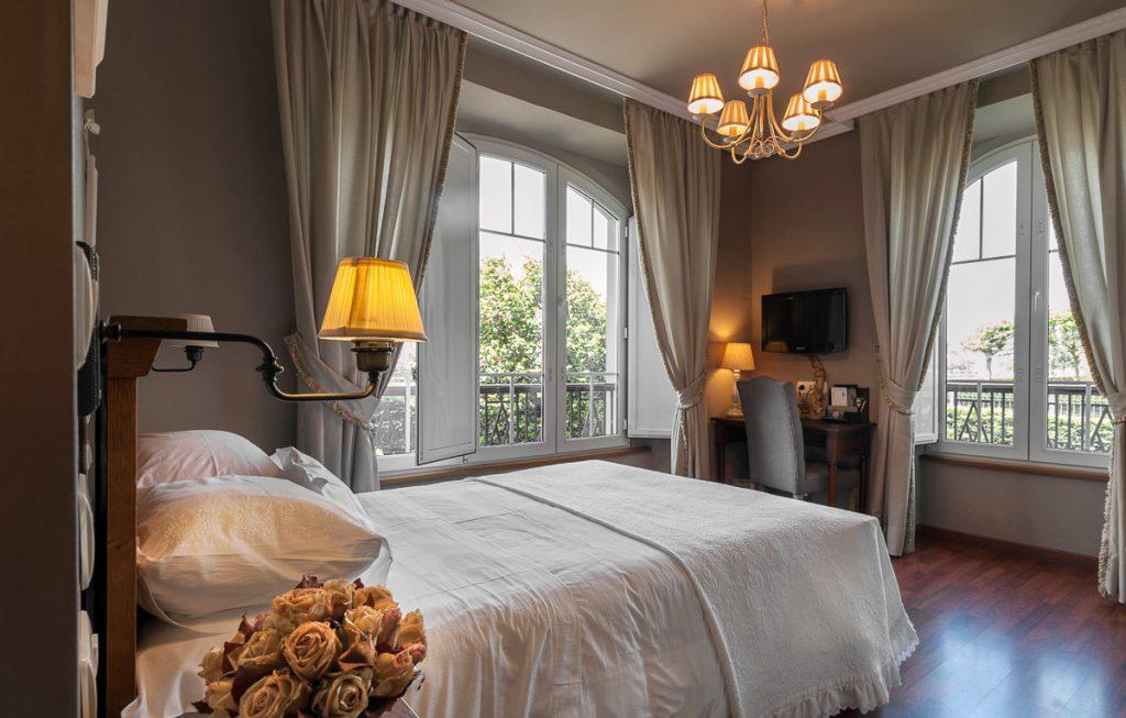 Dormitorio, habitación en casa de indianos, hotel en Navia