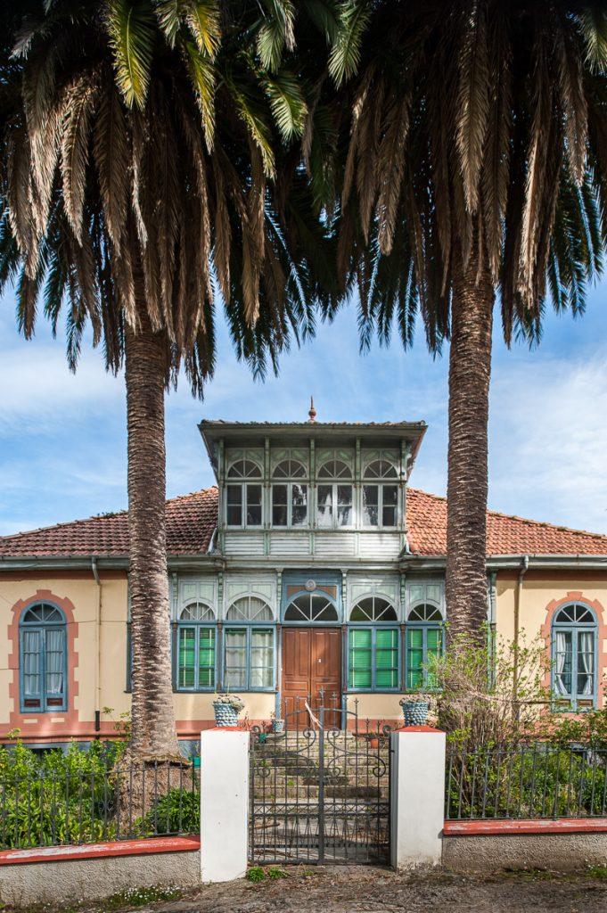 Casa de indianos chalé de Manuel Toyos en Libardón, concejo de Colunga, Asturias