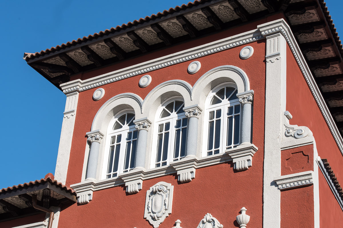 La Quintana, casa de indianos situada en Grado que es ahora albergue de peregrinos que hacen el Camino de Santiago por Asturias
