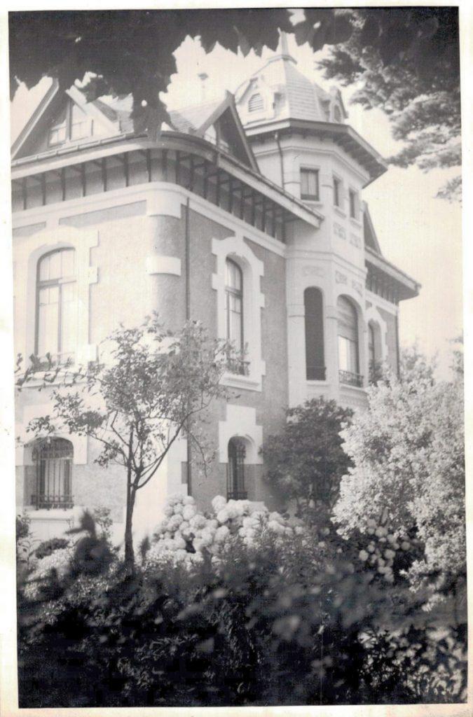 Fachada de Villa Rosita a mediados de los años cincuenta