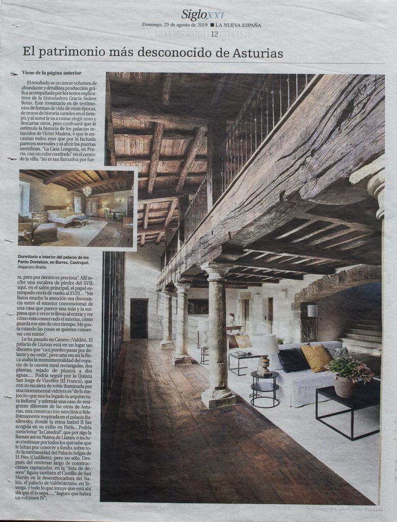 Reportaje de los interiores de los palacios de Asturias para el periódico La Nueva España