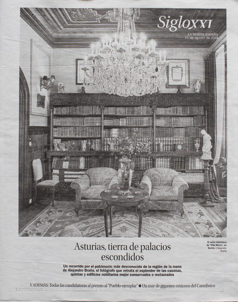 Reportaje sobre el tercer volumen de la Colección Palacios y Casonas de Asturias en La Nueva España