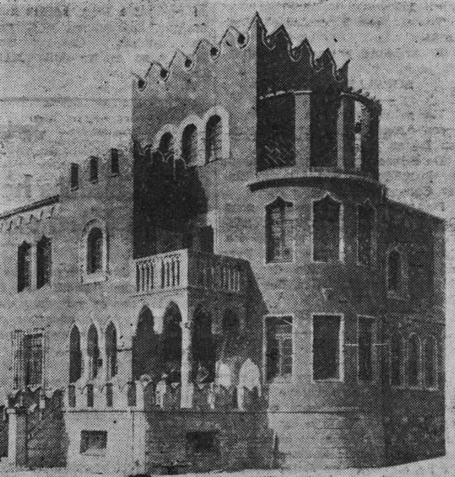 Foto antigua del chalé de José Ramón González en El Prestín, Parres, Asturias