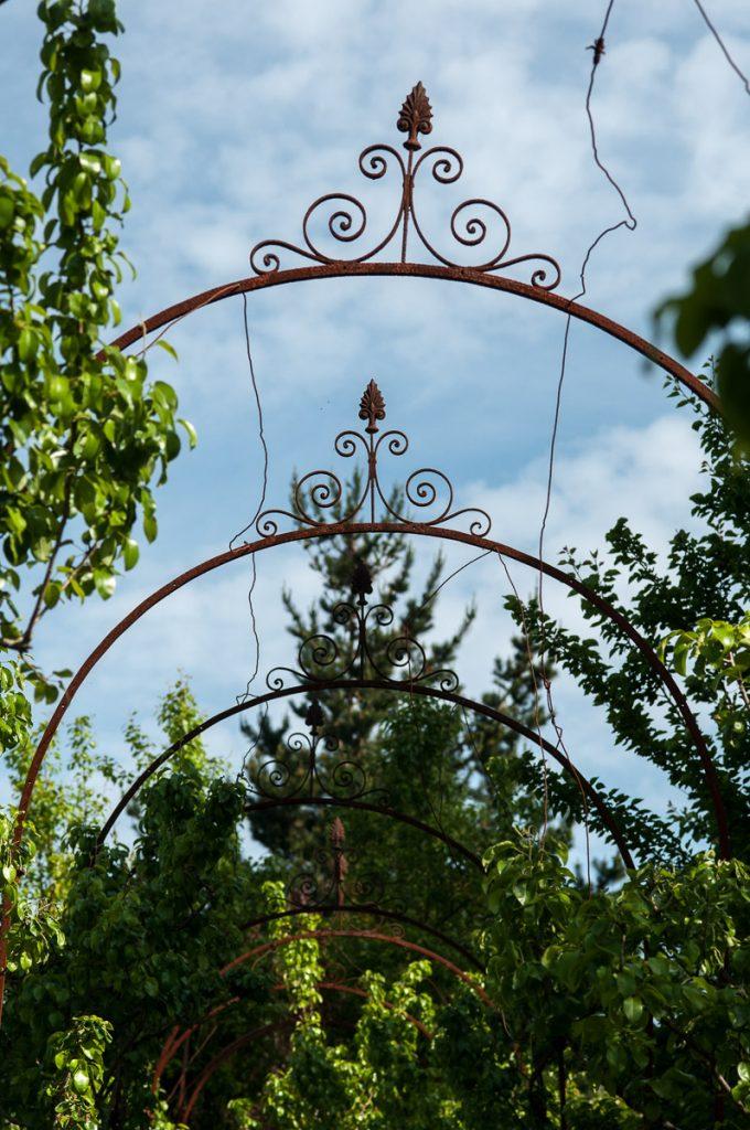 Detalle de el jardín de El Calabión, casa de indianos de Grado, Asturias