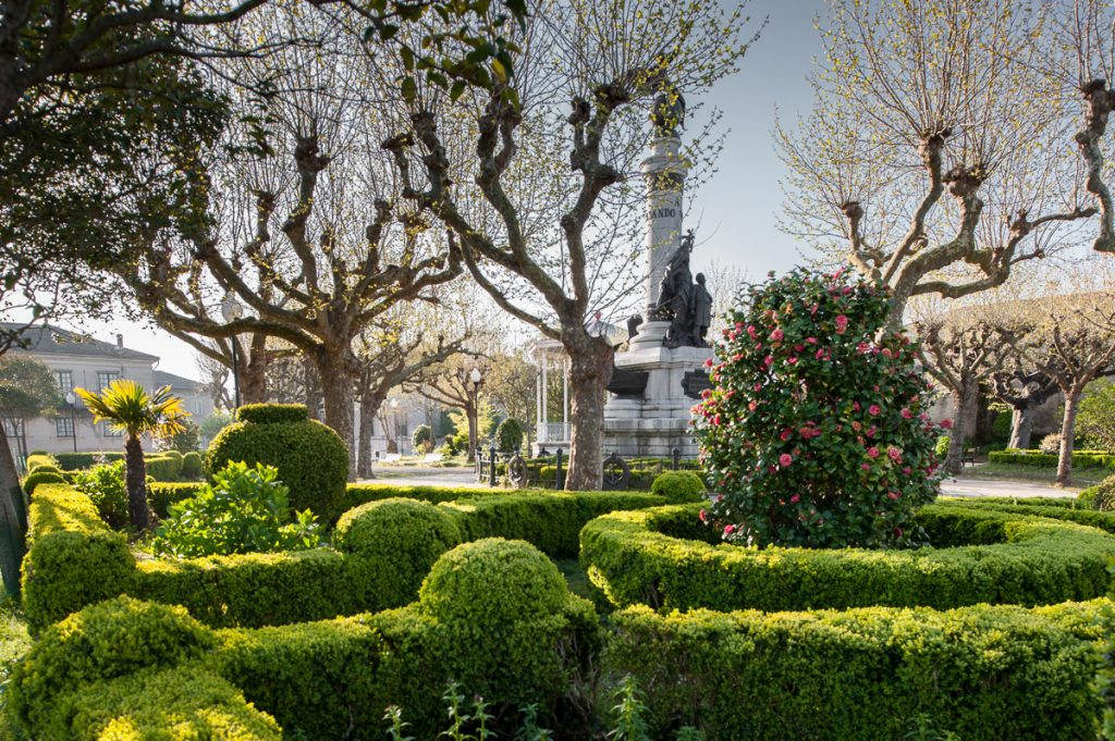 Vista del Parque Vicente Loriente Acevedo en Castropol, Asturias