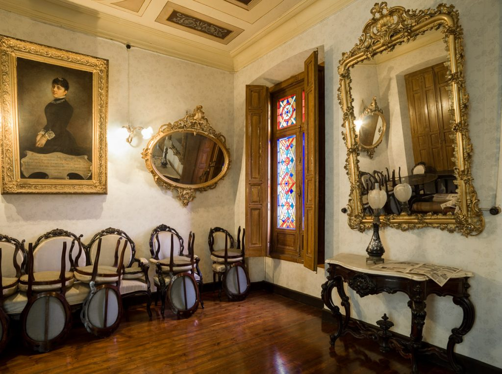 Salón de Baile de Villa Santa Julita, casa de indianos en Grado