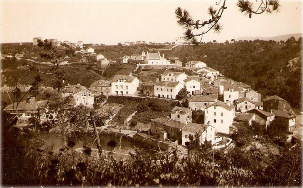 Foto antigua del pueblo de Viaveléz en La Caridad, Asturias