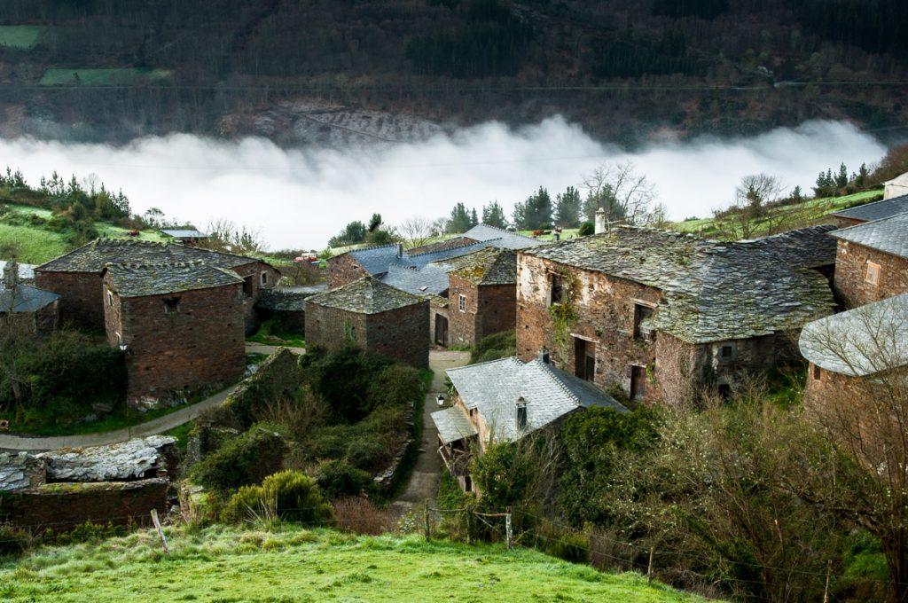 Vista panorámica del pueblo de Argul, Pesoz