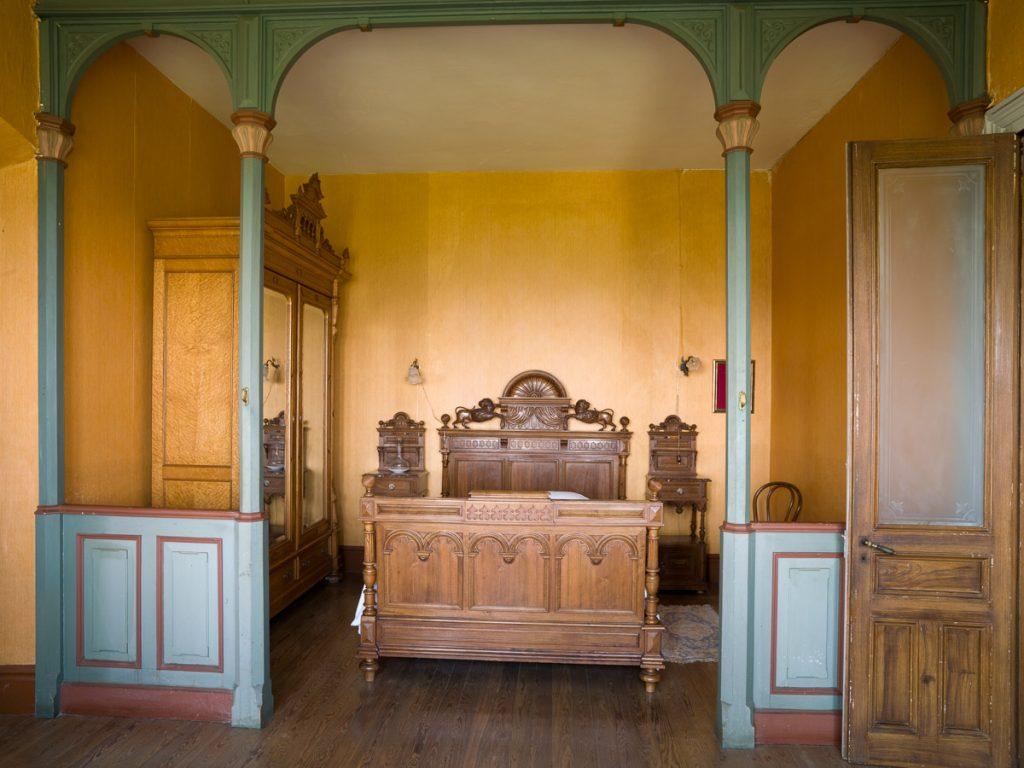 dormitorio de La Casona de Somao en Pravia