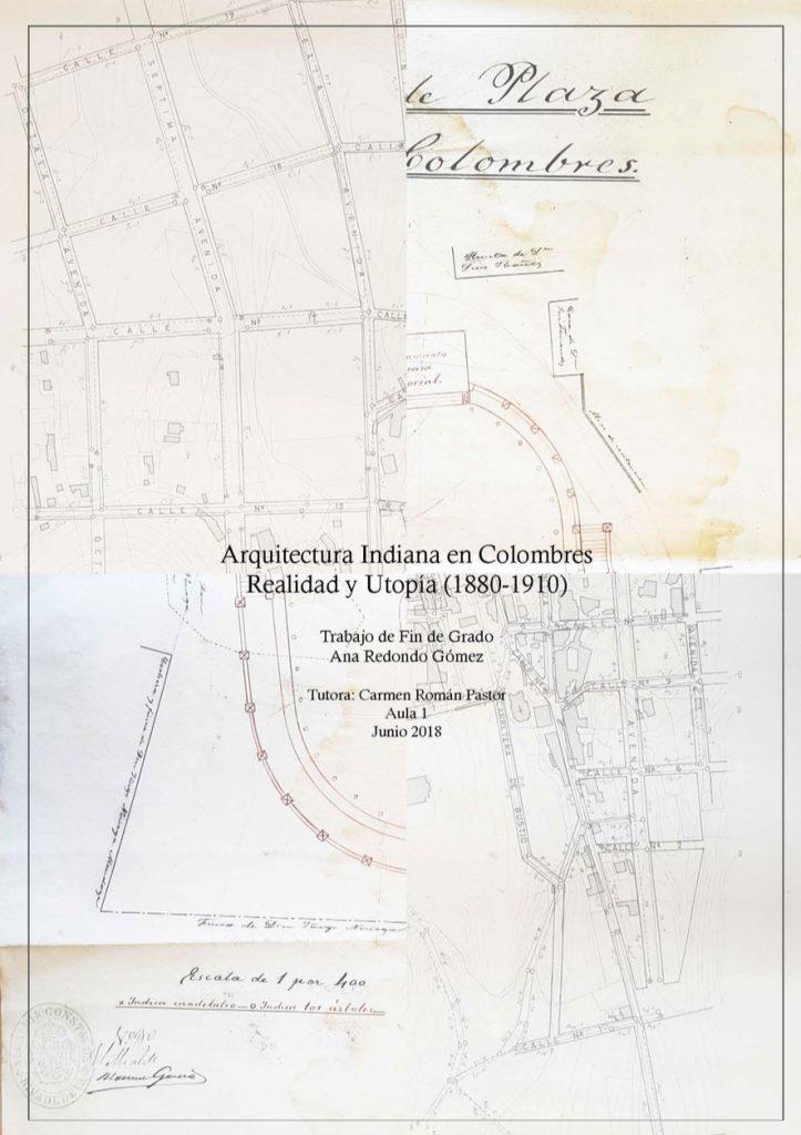 Portada del trabajo Arquitectura Indiana en Colombres que forma parte de la Biblioteca Indiana de Asturias por Descubrir