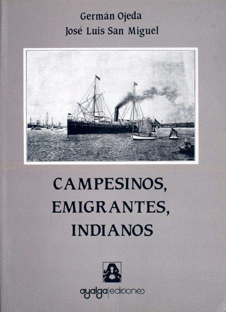 Portada del libro Campesinos, Emigrantes, Indianos que forma parte e la Biblioteca Indiana