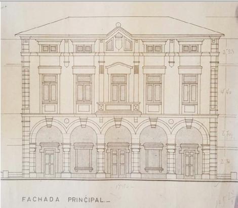 Plano del Ayuntamiento de Ribadedeva del arquitecto Casimiro Pérez de la Riva