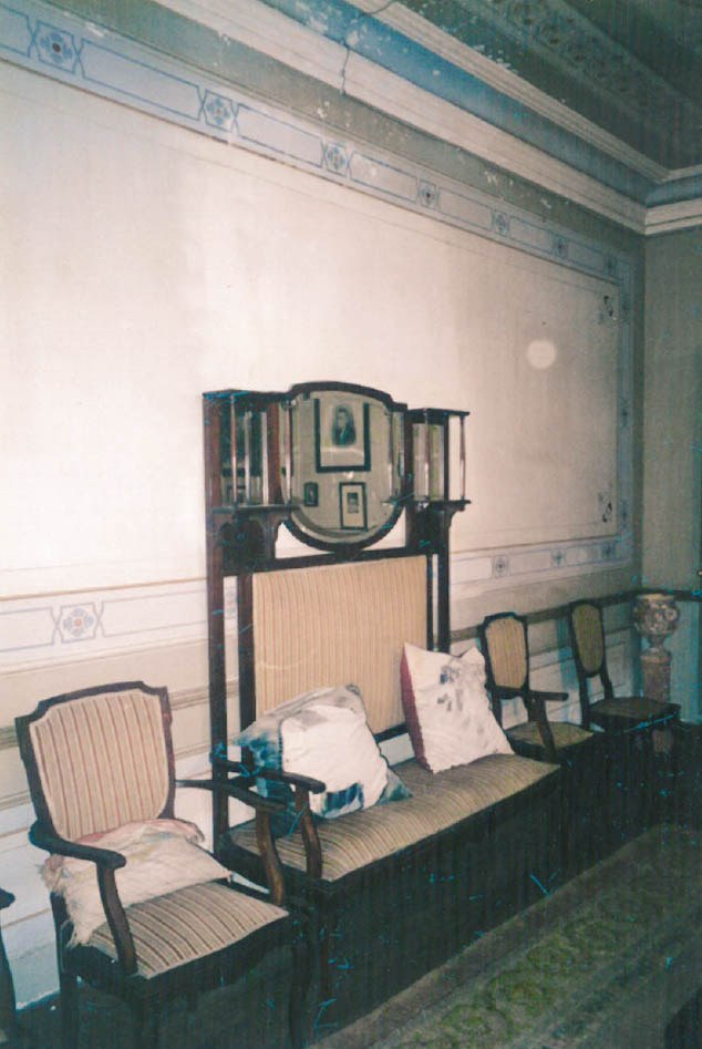 Salón de la casa de Manuel Pérez Villamil en Navia