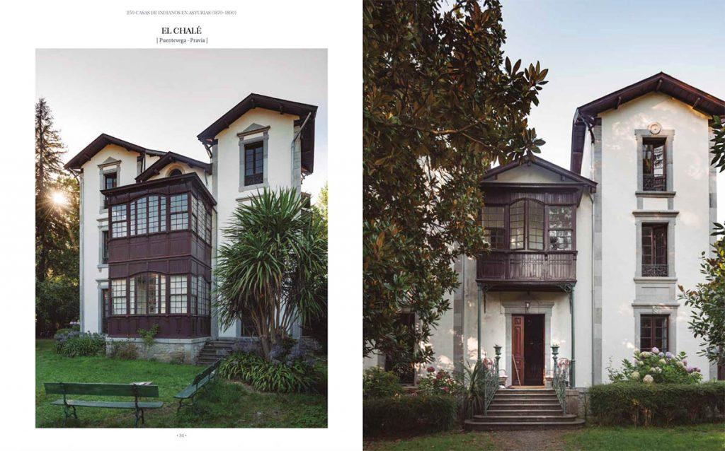 Muestra del interior del libro 250 casas de indianos en Asturias